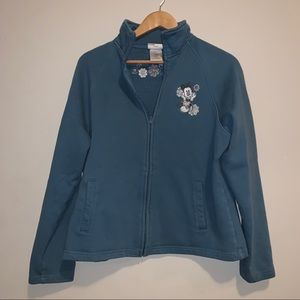 Disney Resort Embroidered Mickey Mouse Zip Up